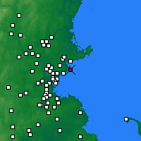Nearby Forecast Locations - Marblehead - Χάρτης
