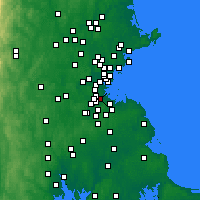 Nearby Forecast Locations - Mattapan - Χάρτης