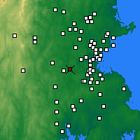 Nearby Forecast Locations - Natick - Χάρτης