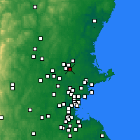Nearby Forecast Locations - North Andover - Χάρτης