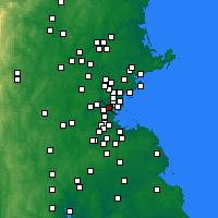 Nearby Forecast Locations - Somerville - Χάρτης