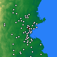 Nearby Forecast Locations - Stoneham - Χάρτης
