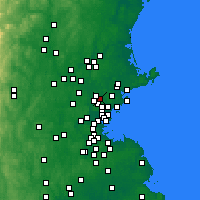 Nearby Forecast Locations - Wakefield - Χάρτης