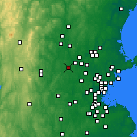 Nearby Forecast Locations - Westford - Χάρτης