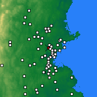 Nearby Forecast Locations - Woburn - Χάρτης