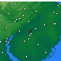Nearby Forecast Locations - Cherry Hill - Χάρτης