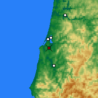 Nearby Forecast Locations - Coos Bay - Χάρτης