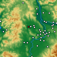 Nearby Forecast Locations - Forest Grove - Χάρτης