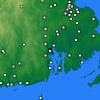 Nearby Forecast Locations - Cranston - Χάρτης