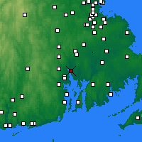 Nearby Forecast Locations - East Providence - Χάρτης