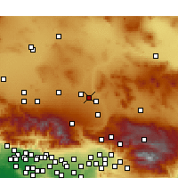 Nearby Forecast Locations - Victorville - Χάρτης