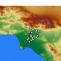Nearby Forecast Locations - Alhambra - Χάρτης