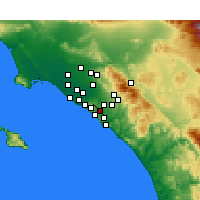 Nearby Forecast Locations - Aliso Viejo - Χάρτης