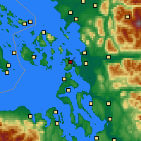 Nearby Forecast Locations - Anacortes - Χάρτης