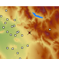 Nearby Forecast Locations - Apache Junction - Χάρτης