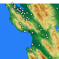 Nearby Forecast Locations - Aptos - Χάρτης