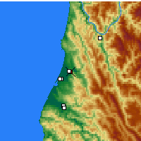 Nearby Forecast Locations - Arcata - Χάρτης