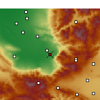 Nearby Forecast Locations - Arvin - Χάρτης