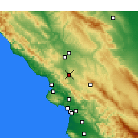 Nearby Forecast Locations - Atascadero - Χάρτης