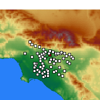 Nearby Forecast Locations - Baldwin Park - Χάρτης