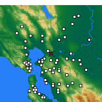 Nearby Forecast Locations - Benicia - Χάρτης