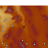 Nearby Forecast Locations - Benson - Χάρτης