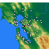 Nearby Forecast Locations - Berkeley - Χάρτης