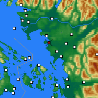 Nearby Forecast Locations - Blaine - Χάρτης