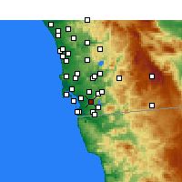 Nearby Forecast Locations - Bonita - Χάρτης