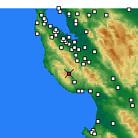 Nearby Forecast Locations - Boulder Creek - Χάρτης