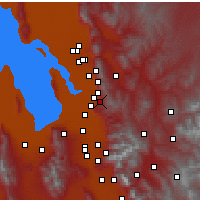 Nearby Forecast Locations - Bountiful - Χάρτης
