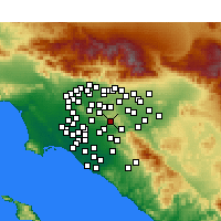 Nearby Forecast Locations - Brea - Χάρτης