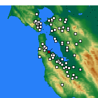 Nearby Forecast Locations - Burlingame - Χάρτης