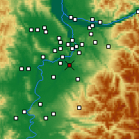 Nearby Forecast Locations - Canby - Χάρτης