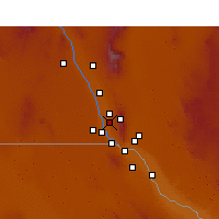 Nearby Forecast Locations - Canutillo - Χάρτης