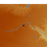 Nearby Forecast Locations - Canyon - Χάρτης