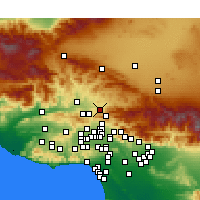 Nearby Forecast Locations - Canyon Country - Χάρτης