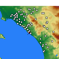 Nearby Forecast Locations - Capistrano Beach - Χάρτης