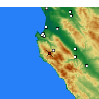 Nearby Forecast Locations - Carmel-by-the-Sea - Χάρτης