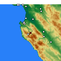 Nearby Forecast Locations - Carmel Valley Village - Χάρτης