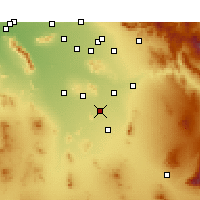 Nearby Forecast Locations - Casa Grande - Χάρτης