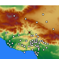 Nearby Forecast Locations - Castaic - Χάρτης