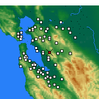 Nearby Forecast Locations - Castro Valley - Χάρτης