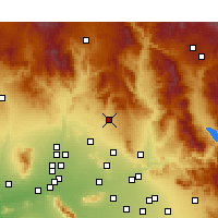 Nearby Forecast Locations - Cave Creek - Χάρτης