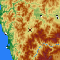 Nearby Forecast Locations - Cave Junction - Χάρτης