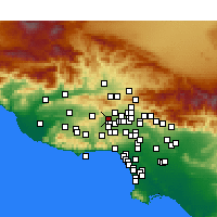 Nearby Forecast Locations - Chatsworth - Χάρτης