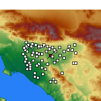 Nearby Forecast Locations - Chino Hills - Χάρτης