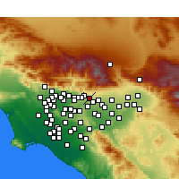 Nearby Forecast Locations - Claremont - Χάρτης