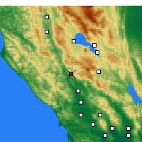 Nearby Forecast Locations - Cloverdale - Χάρτης