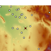 Nearby Forecast Locations - Coolidge - Χάρτης